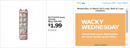IKEA - Calgary Wacky Wednesday Deal of the Day (Mar 25) A