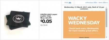 IKEA - Calgary Wacky Wednesday Deal of the Day (Mar 25) B