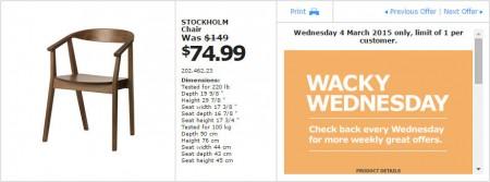 IKEA - Calgary Wacky Wednesday Deal of the Day (Mar 4) A