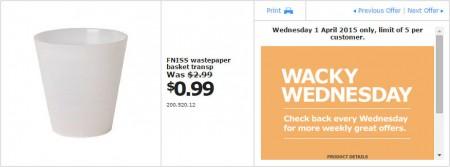 IKEA - Calgary Wacky Wednesday Deal of the Day (Apr 1) A