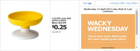 IKEA - Calgary Wacky Wednesday Deal of the Day (Apr 15) B