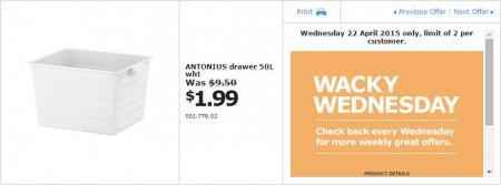 IKEA - Calgary Wacky Wednesday Deal of the Day (Apr 22) B