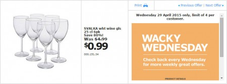 IKEA - Calgary Wacky Wednesday Deal of the Day (Apr 29) A