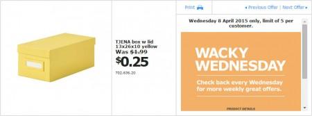 IKEA - Calgary Wacky Wednesday Deal of the Day (Apr 8) A