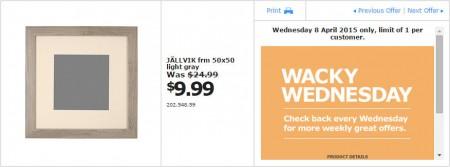 IKEA - Calgary Wacky Wednesday Deal of the Day (Apr 8) B