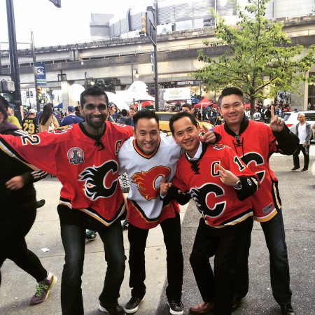 C of Red in Vancouver! That's me on the far right at Game #1.