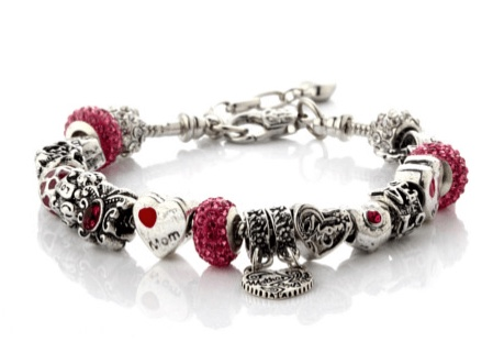 Mother Daughter Love Charms Bracelet