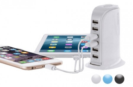 Aduro PowerUp 40 Watt 6 Port USB Charging Station