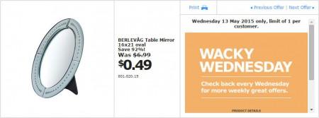 IKEA - Calgary Wacky Wednesday Deal of the Day (May 13) B
