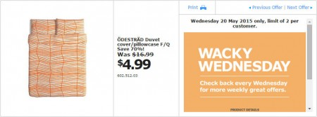 IKEA - Calgary Wacky Wednesday Deal of the Day (May 20) A