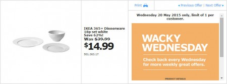 IKEA - Calgary Wacky Wednesday Deal of the Day (May 20) C