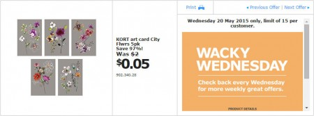 IKEA - Calgary Wacky Wednesday Deal of the Day (May 20) D