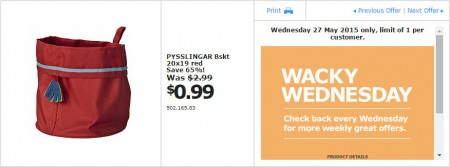 IKEA - Calgary Wacky Wednesday Deal of the Day (May 27) A