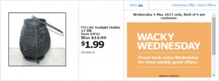 IKEA - Calgary Wacky Wednesday Deal of the Day (May 6) A
