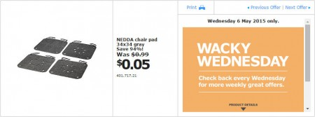 IKEA - Calgary Wacky Wednesday Deal of the Day (May 6) B