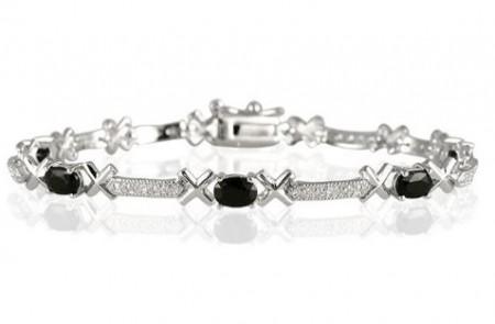 Sapphire and Diamond X Link Bracelet