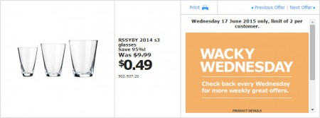 IKEA - Calgary Wacky Wednesday Deal of the Day (June 17) A