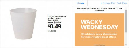 IKEA - Calgary Wacky Wednesday Deal of the Day (June 3) B