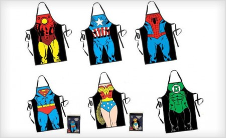 Retro Superhero Cooking Aprons