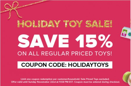 Well Holiday Toy Sale - 15 Off All Regular Priced Toys Promo Code (Until Nov 22)