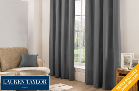 2 Brooklyn blackout curtain panels