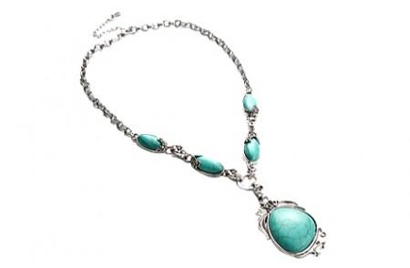 Antique Tibet Turquoise Necklace