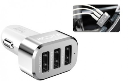 High Speed 3-Port USB Car Charger