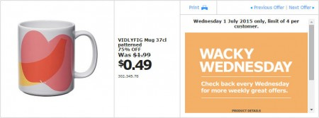 IKEA - Calgary Wacky Wednesday Deal of the Day (July 1) A