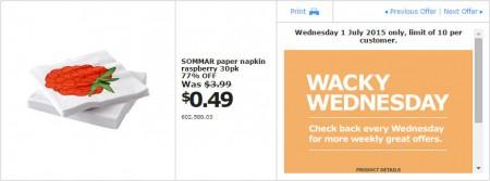 IKEA - Calgary Wacky Wednesday Deal of the Day (July 1) B