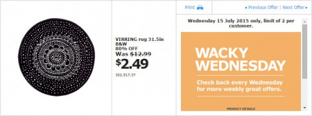 IKEA - Calgary Wacky Wednesday Deal of the Day (July 15) A