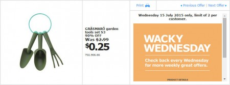 IKEA - Calgary Wacky Wednesday Deal of the Day (July 15) B