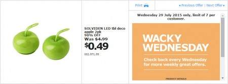 IKEA - Calgary Wacky Wednesday Deal of the Day (July 29) A