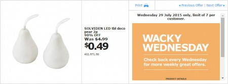 IKEA - Calgary Wacky Wednesday Deal of the Day (July 29) B