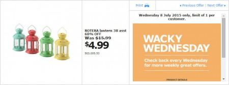 IKEA - Calgary Wacky Wednesday Deal of the Day (July 8) B