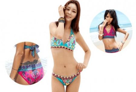 Paisley Print Bikini