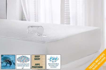 waterproof microfleece mattress protector