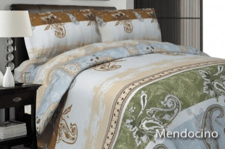 3-Piece Printed Duvet Cover Queen Set