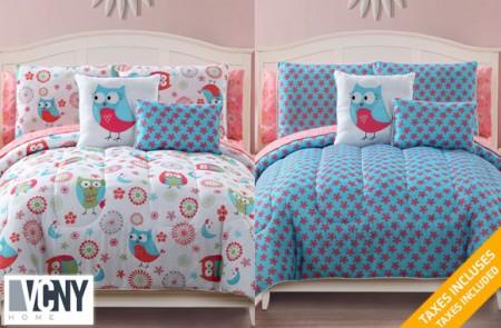 9-piece complete reversible bedding set
