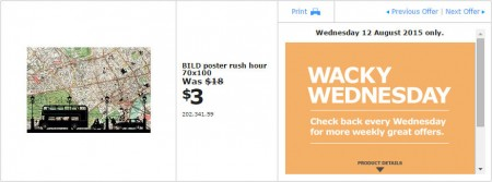 IKEA - Calgary Wacky Wednesday Deal of the Day (Aug 12) A
