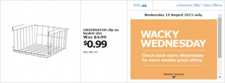 IKEA - Calgary Wacky Wednesday Deal of the Day (Aug 19) A