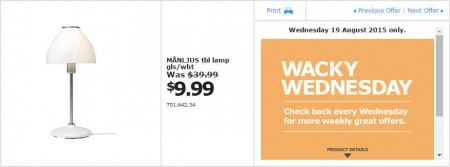IKEA - Calgary Wacky Wednesday Deal of the Day (Aug 19) B