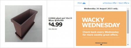 IKEA - Calgary Wacky Wednesday Deal of the Day (Aug 26) A