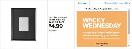 IKEA - Calgary Wacky Wednesday Deal of the Day (Aug 5) B