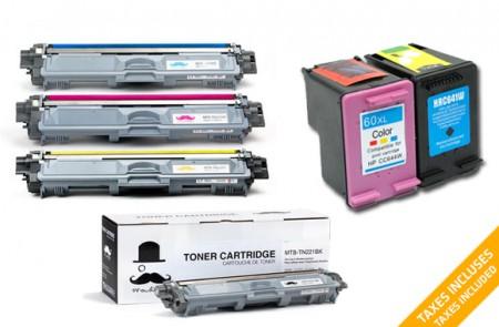 Ink:Toner Cartridges Combo Set