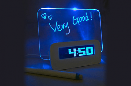 LED Erasable Board Alarm Clock