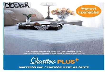 Queen Size Quattro Plus Mattress Pad