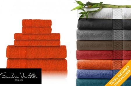 bamboo rayon 6-piece towel set