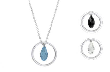 Briolette Crystal Ring Pendant