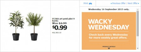 IKEA - Calgary Wacky Wednesday Deal of the Day (Sept 16) B