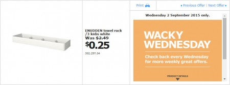 IKEA - Calgary Wacky Wednesday Deal of the Day (Sept 2) B